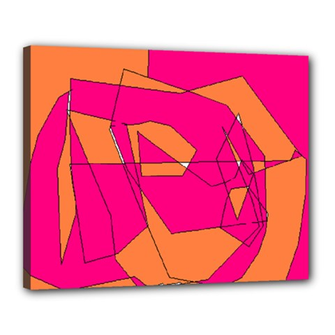 Red Orange 5000 Canvas 20  X 16  (framed)