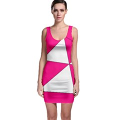 Pink White Art Kids 7000 Bodycon Dress