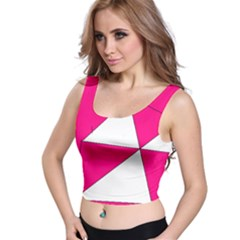 Pink White Art Kids 7000 Crop Top