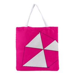 Pink White Art Kids 7000 Grocery Tote Bag