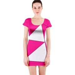 Pink White Art Kids 7000 Short Sleeve Bodycon Dress