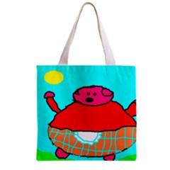 Sweet Pig Knoremans, Art by Kids Grocery Tote Bag