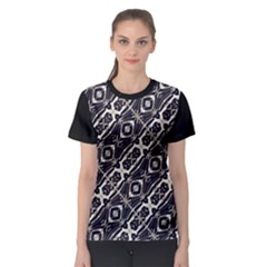 Retro Decorative Pattern Women s Sport Mesh Tee