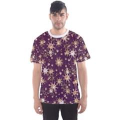 Abstract Pattern Print Men s Sport Mesh Tee