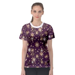 Abstract Pattern Print Women s Sport Mesh Tee