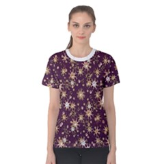 Abstract Pattern Print Women s Cotton Tee