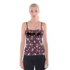 Abstract Pattern Print Spaghetti Strap Top