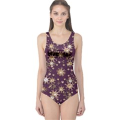 Abstract Pattern Print Women s One Piece Swimsuit