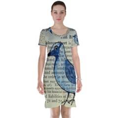 Bird Short Sleeve Nightdress