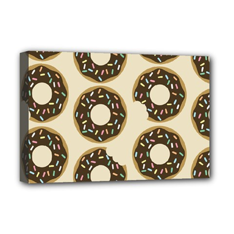 Donuts Deluxe Canvas 18  X 12  (framed)