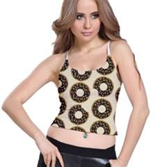 Donuts Women s Spaghetti Strap Bra Top