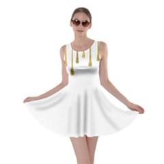 Gold Glitter Paint Skater Dress