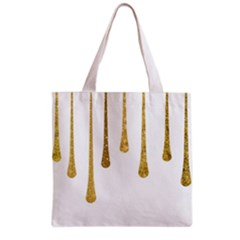 Gold Glitter Paint Grocery Tote Bag