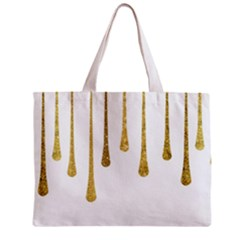 Gold Glitter Paint Tiny Tote Bag