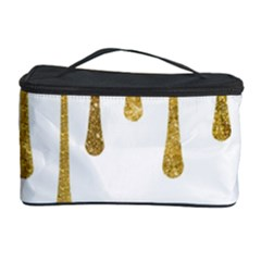 Gold Glitter Paint Cosmetic Storage Case