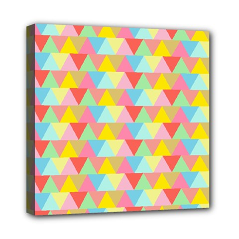 Triangle Pattern Mini Canvas 8  X 8  (framed)