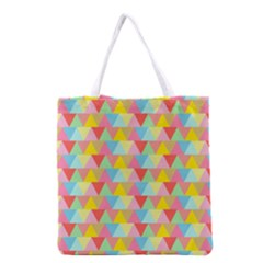 Triangle Pattern Grocery Tote Bag