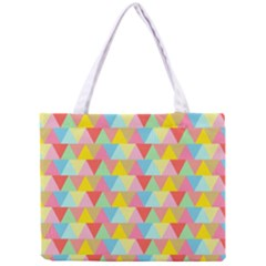 Triangle Pattern Tiny Tote Bag