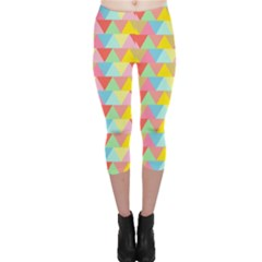 Triangle Pattern Capri Leggings
