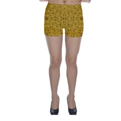 Colorful Abstract Pattern Skinny Shorts