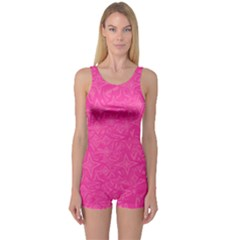 Abstract Stars In Hot Pink Women s Boyleg One Piece Swimsuit