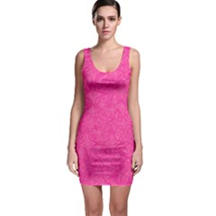 Abstract Stars In Hot Pink Bodycon Dress