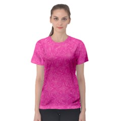 Abstract Stars In Hot Pink Women s Sport Mesh Tee