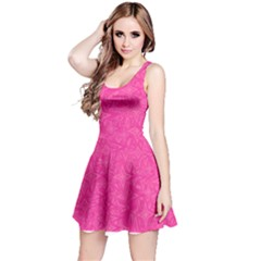 Abstract Stars In Hot Pink Reversible Sleeveless Dress