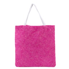 Abstract Stars In Hot Pink Grocery Tote Bag