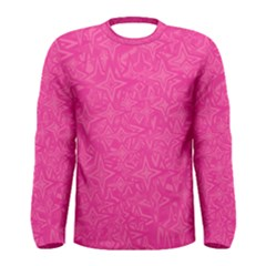Abstract Stars In Hot Pink Men s Long Sleeve T Shirt