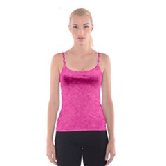 Abstract Stars In Hot Pink Spaghetti Strap Top