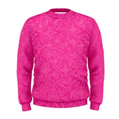 Abstract Stars In Hot Pink Men s Sweatshirt