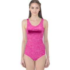 Abstract Stars In Hot Pink Women s One Piece Swimsuit
