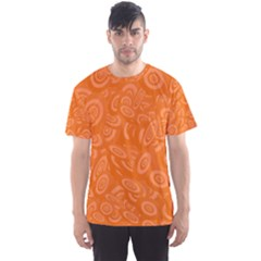 Orange Abstract 45s Men s Sport Mesh Tee