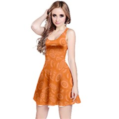 Orange Abstract 45s Reversible Sleeveless Dress