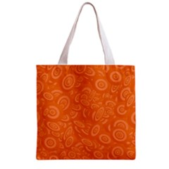 Orange Abstract 45s Grocery Tote Bag