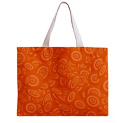 Orange Abstract 45s Tiny Tote Bag