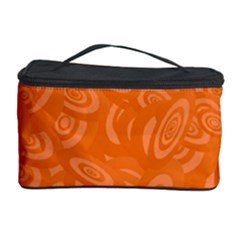 Orange Abstract 45s Cosmetic Storage Case