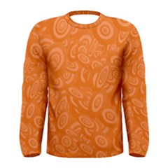 Orange Abstract 45s Men s Long Sleeve T Shirt