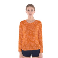 Orange Abstract 45s Women s Long Sleeve T-shirt