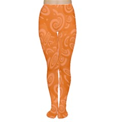 Orange Abstract 45s Tights