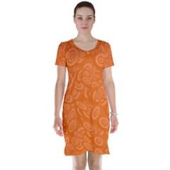 Orange Abstract 45s Short Sleeve Nightdress