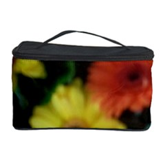 Orange Yellow Daisy Flowers Gerbera Cosmetic Storage Case