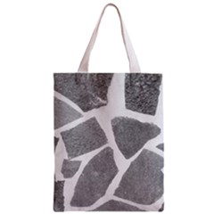 Grey White Tiles Pattern Classic Tote Bag