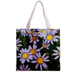 Yellow White Daisy Flowers Grocery Tote Bag