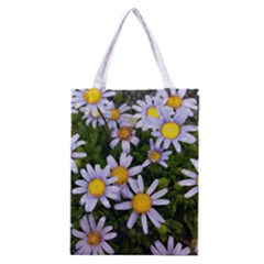 Yellow White Daisy Flowers Classic Tote Bag
