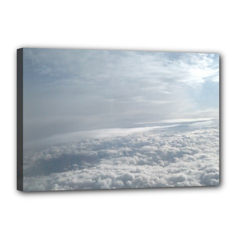 Sky Plane View Canvas 18  X 12  (framed)