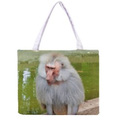Grey Monkey Macaque Tiny Tote Bag