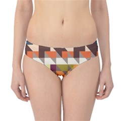 Shapes in retro colors Hipster Bikini Bottoms