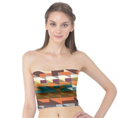 Shapes In Retro Colors Women s Tube Top